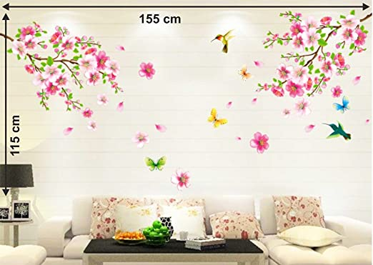 Buy Decals Design Flowers Branch Wall Sticker PVC Vinyl 60 cm