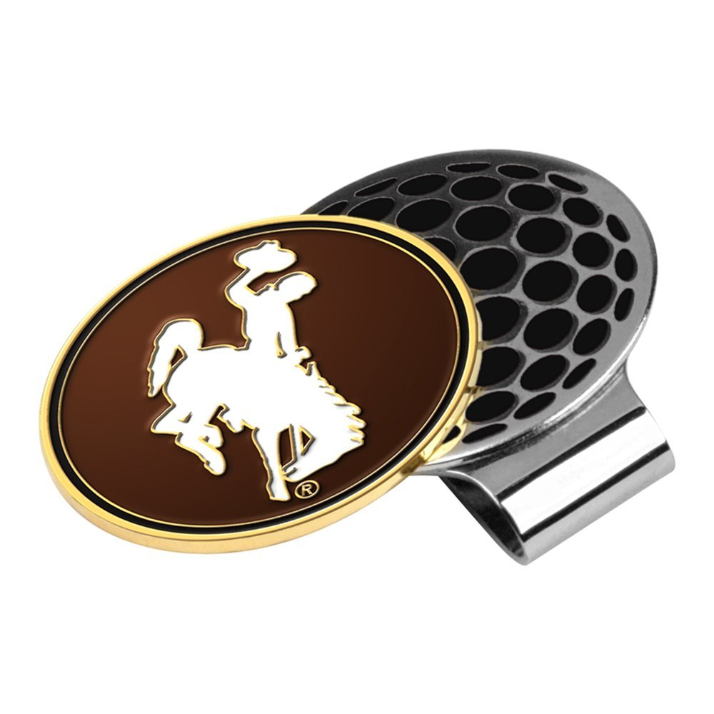 LinksWalker NCAA Wyoming Cowboys - Golf Hat Clip with Ball Marker