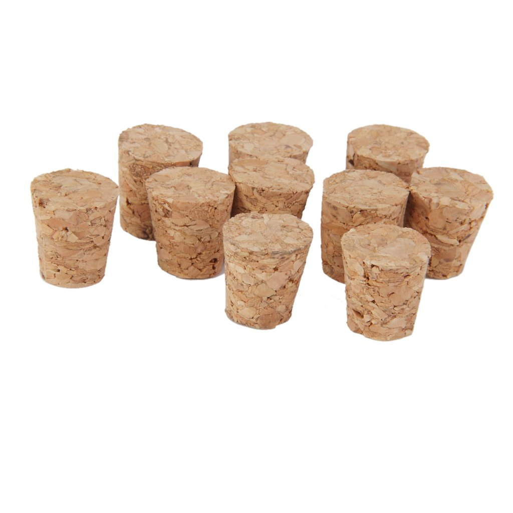 10pcs Tapered Wooden Cork Bung Stopper Tops for Bottle Jar Craft 15 x11 x15mm Generic