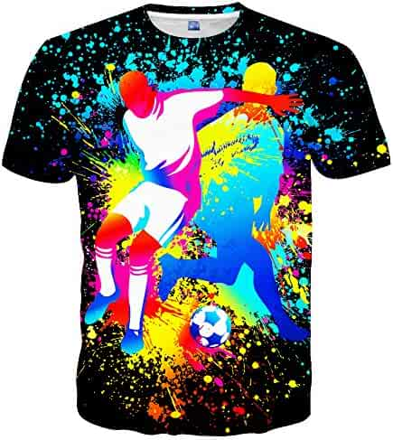 Neemanndy Unisex T-Shirts Fashion 3D Printed Short Sleeve Shirts