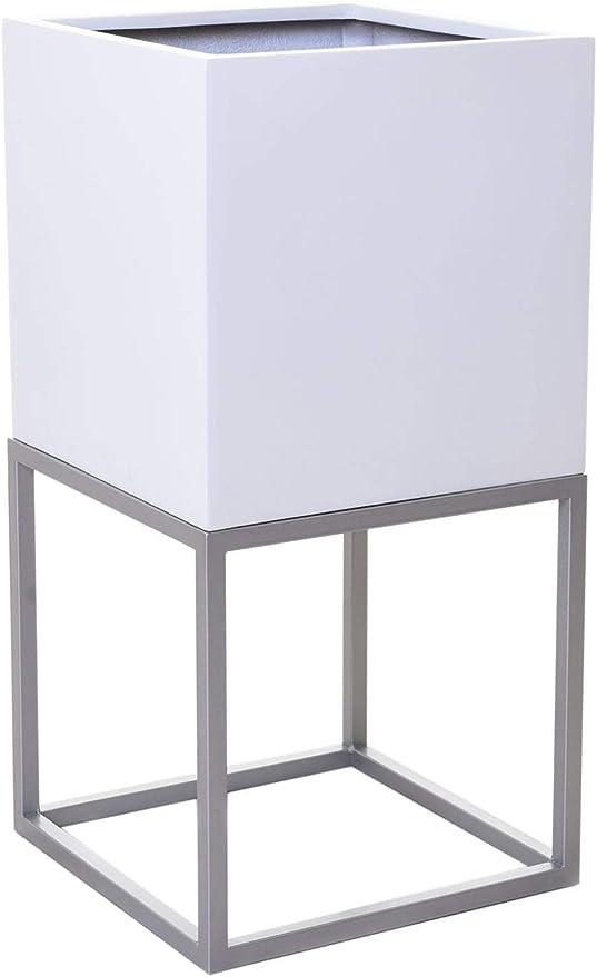 """80x40x40 Schwarz Pflanzkübel Blumenkübel Gestell /""""Block Up/"""" Anthrazit"""