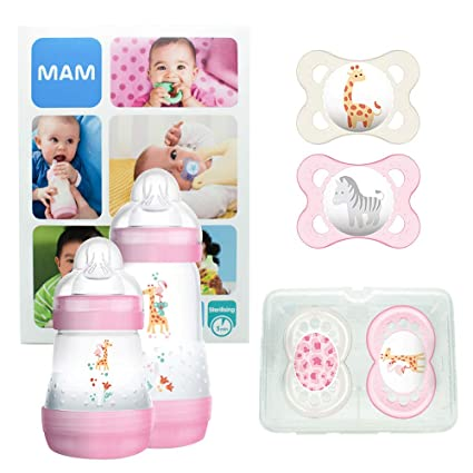 MAM First Steps Set, regalos para bebé (+0), canastilla con 2 ...