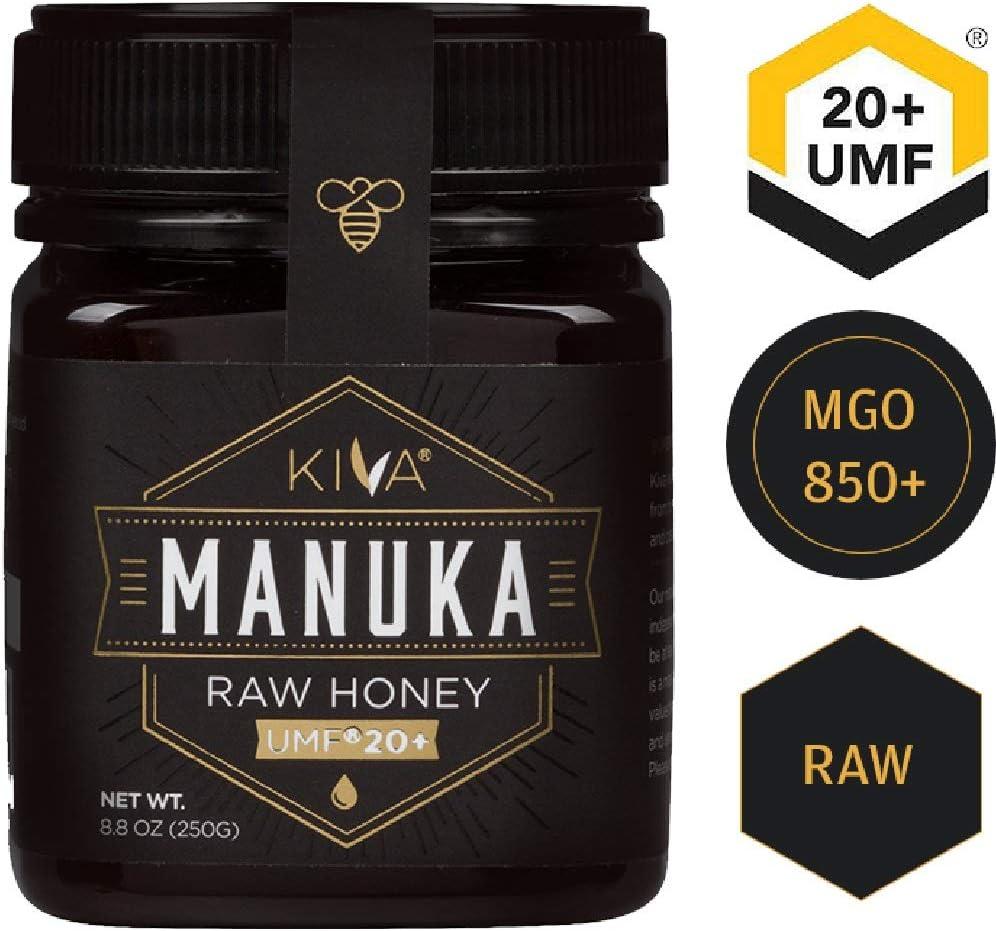 Kiva Raw Manuka Honey, Certified UMF 20+ (MGO 850+) - New Zealand (8.8 oz) ** Limited Time Sale **