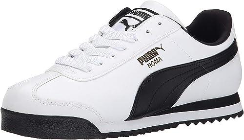 PUMA Men's Roma Basic Sneaker (Men's 13 Medium, White/Black ...