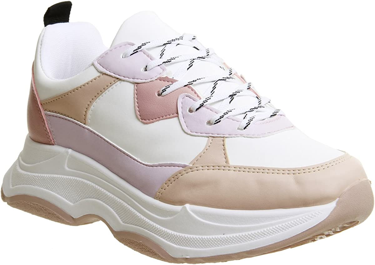 Office Fizzled Chunky Lace Up Trainers