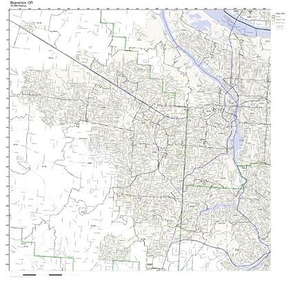 Amazon Com Beaverton Or Zip Code Map Not Laminated Home Kitchen