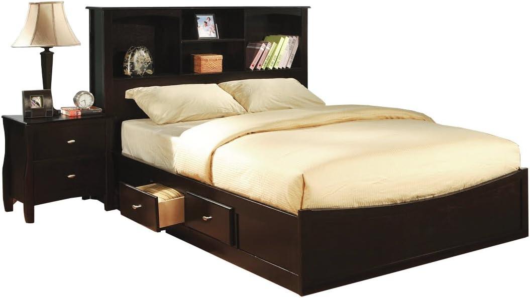 Williamsburg Espresso Platform Storage King Bed