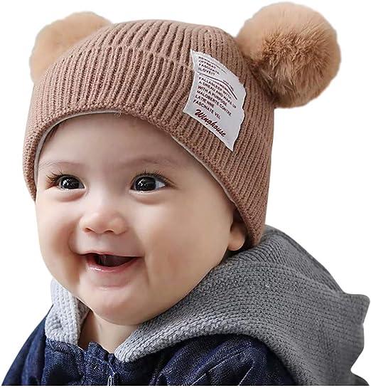 Boy Girls Lovely Braided hair Beanie Ball Cap Crochet Knit Hat Baby Winter Hat
