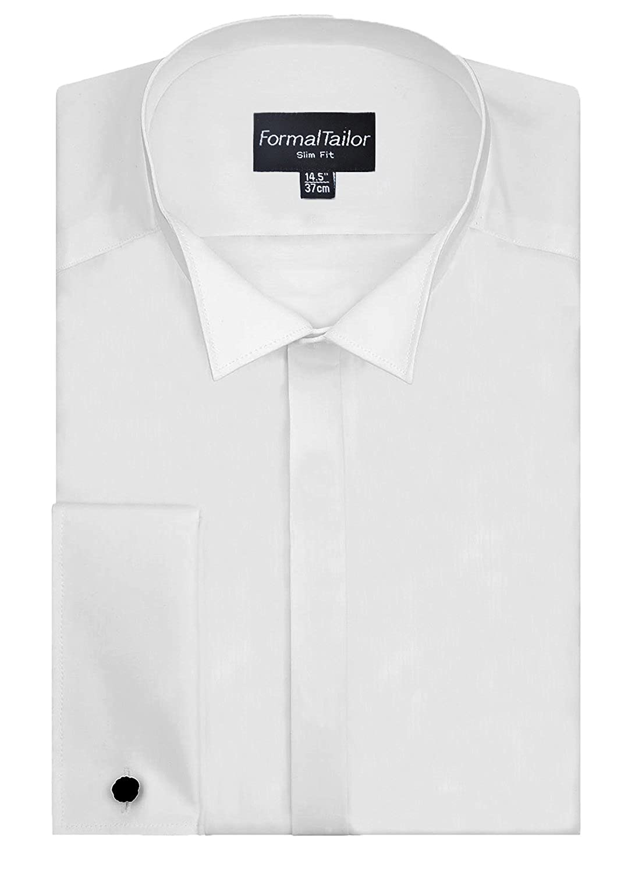 Long sleeve Slim fit Men/'s white Edwardian wing collar shirt ex con wedding