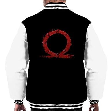 God Of War Omega Symbol Mens Varsity Jacket Amazon Clothing