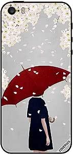 حافظة هاتف آيفون 5s بتصميم فتاة تحت مظلة