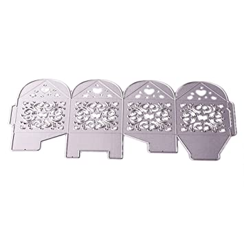 KIMODO - Plantillas de corte de metal con diseño de tiburones y flores, para decorar