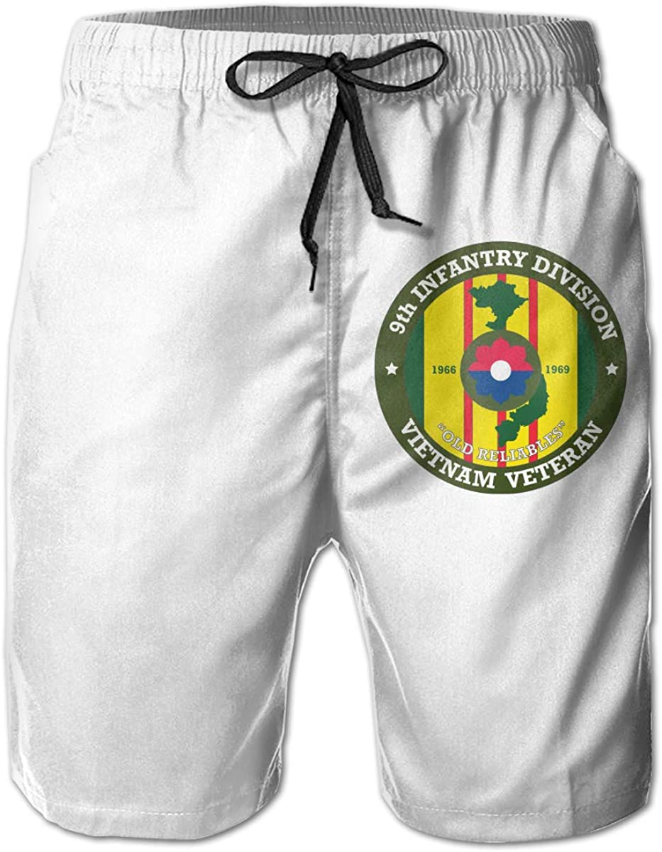 1st Infantry Division Mens Summer Cool Bathing Suit with Pocket Drawstring