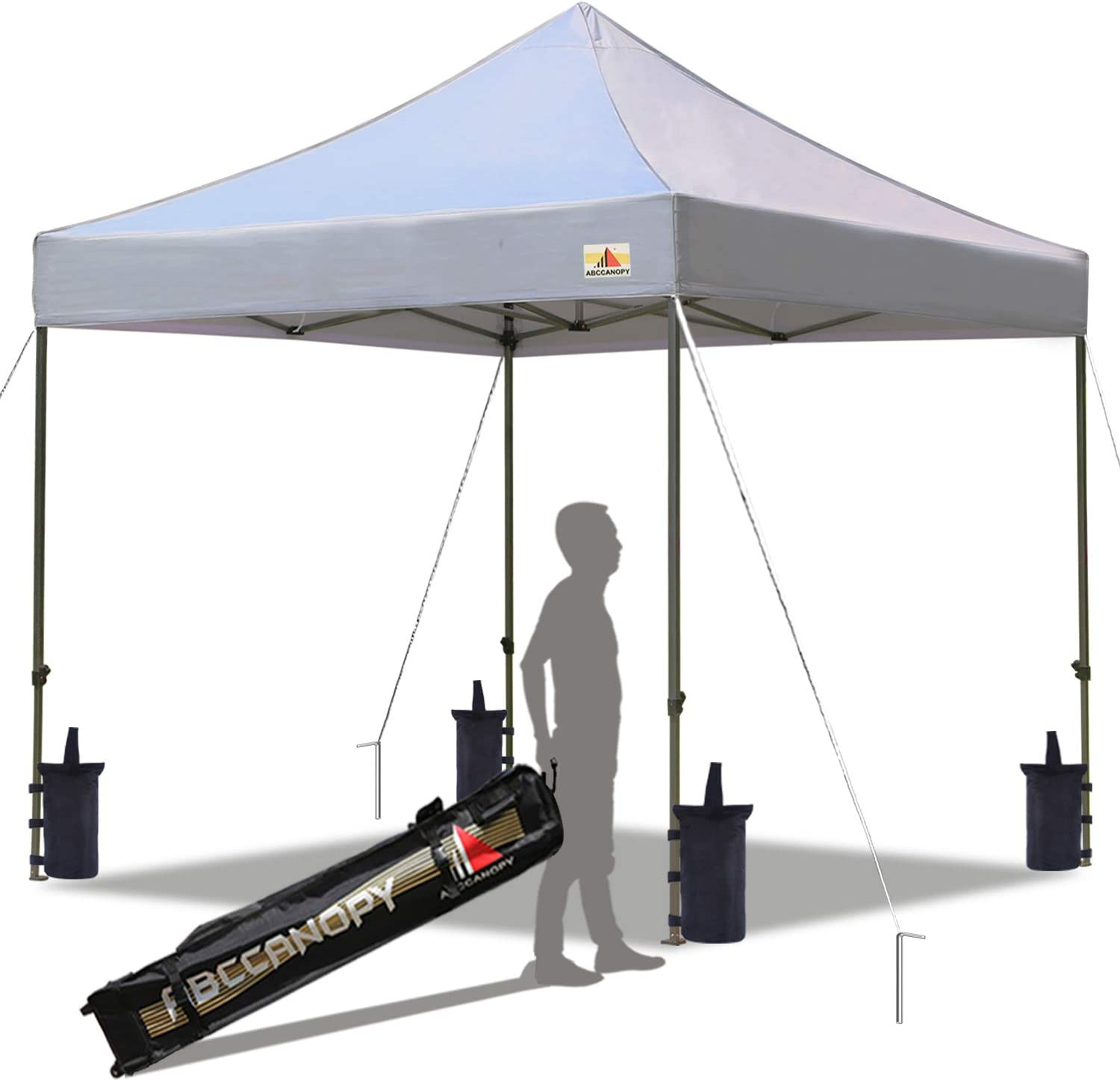 ABCCANOPY Patio Pop Up Canopy Tent 10x10 Commercial-Series(Gray)