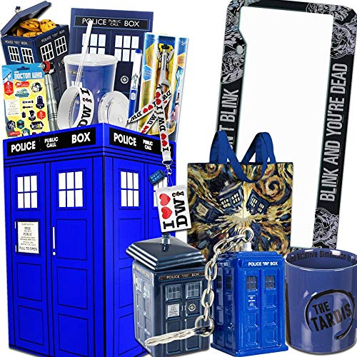 Doctor Who LookSee Gift Box The for Dr Who Fans - Comes with Sonic Screwdriver, License Plate, Tardis Cookie Jar, Mug, & More!