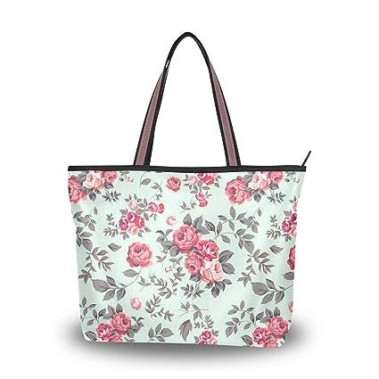 Bolso de Mano con asa para Mujer, Color Rosa Menta: Amazon ...