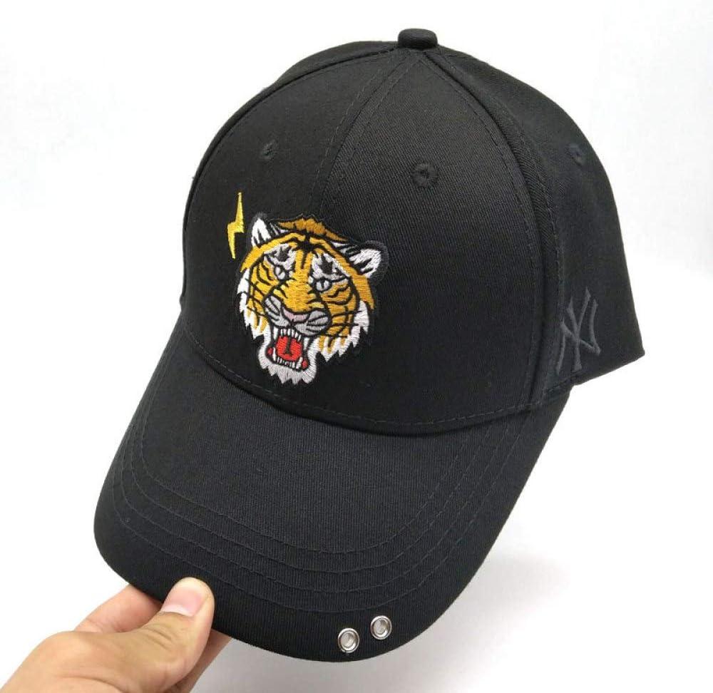 xiaochicun Gorra de béisbol Gorra Negra Cabeza de Tigre Lado NY ...