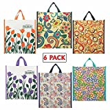 Cotton Shopping Bags by Double R Bags (Medium Reusable Grocery Bags) (Multi Color)