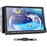 """TOCADO In Dash Car DVD Player with 7"""" HD Display, Car Stereo GPS Navigation Bluetooth Double 2 Din Radio BT RDS iPod DVD CD Player + Backup Camera"""