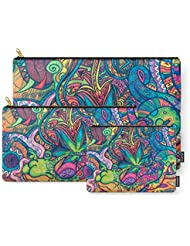 Society6 Colorful Weed TRIPPY Carry-All Pouch