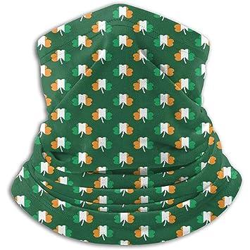 NE Patrón de trébol de Bandera Irlandesa Calentador de Cuello ...