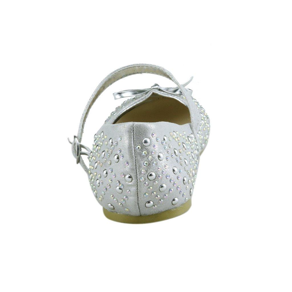 The Doll Maker Glimmer Ballet Flat FBA1631131E-12 Silver