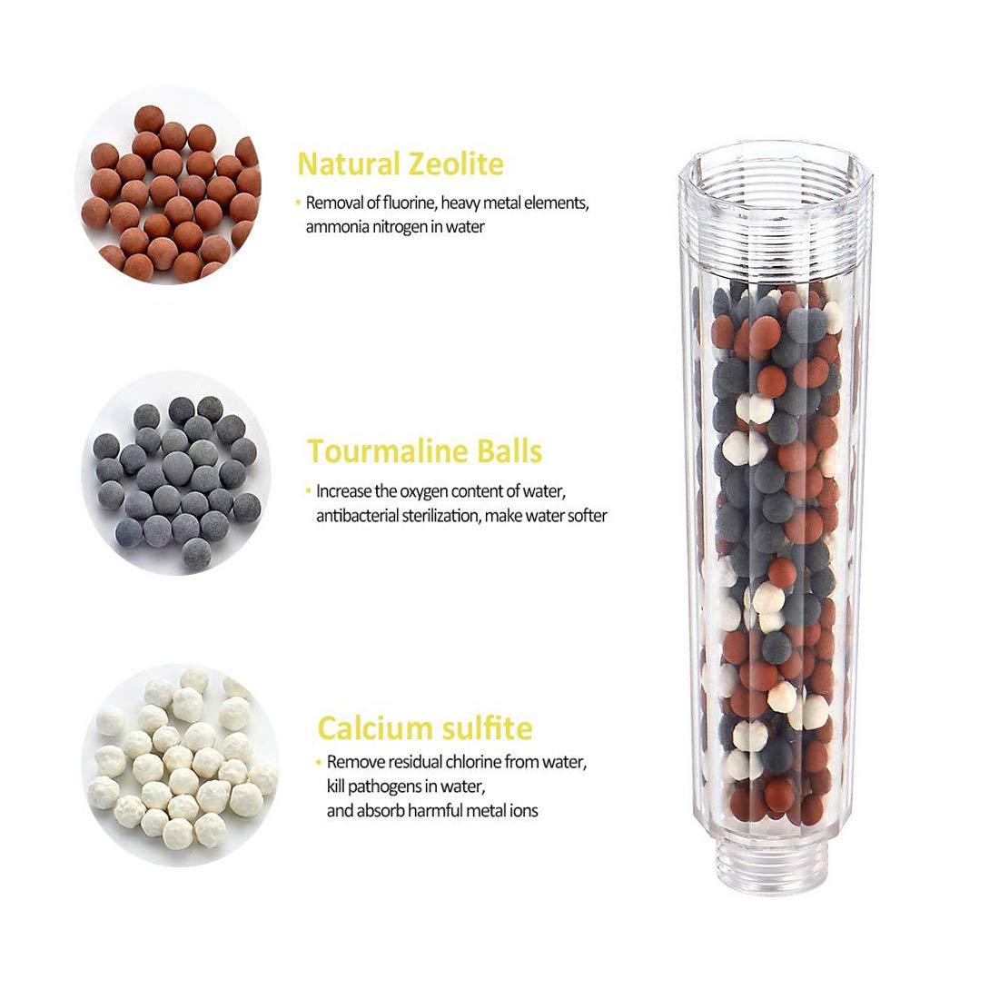 Anti Calcaire pour Douche adoucisseur d eau, filtre /à spa Billes ions N/égatifs pour Pommeau de douchette
