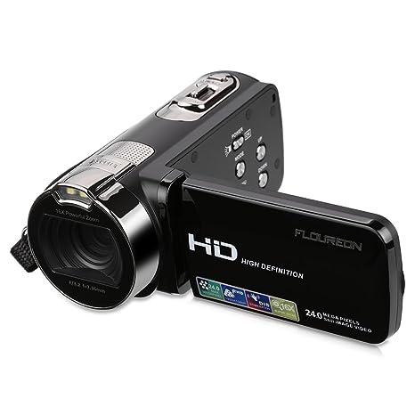 5ea411510 FLOUREON HD 1080P Camcorder Digital Video Camera DV 2.7 TFT LCD Screen 16x  Zoom 270 Degrees