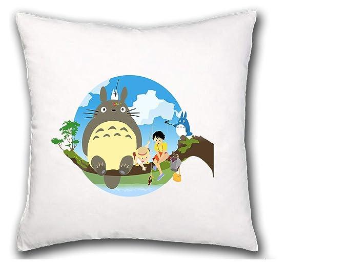 MERCHANDMANIA COJIN Totoro Sentado EN ARBOL hogar Comodo ...