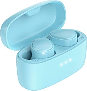 KOSETON E9 True Wireless Earbuds, Baby Blue – IPX5 Waterproof Wireless Headphones Bluetooth 5.0 Touch Control, Stereo Earbuds Built-in Mic, 50 Hour Battery with Charging Case
