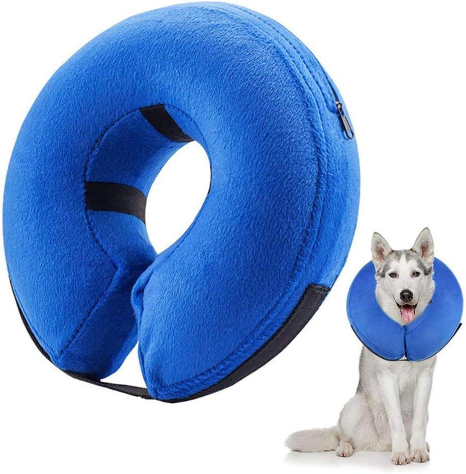 Frifer Collar Hinchable de recuperación de petaca de protección Ajustable Cono de cicatrización Confortable para Perro y Gato, XL (COU: 55cm / 21.6in ou Plus)