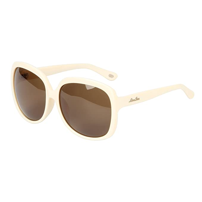 LianSan Gafas de Sol de Diseñador de Moda Para Mujer UV400 Protección Polarizada Gafas de Sol de Gran Tamaño LSP301 blanco