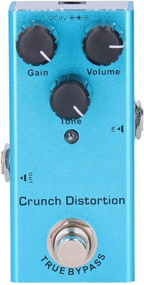 Pedal de Efectos de bajo de Guitarra DC 9V JDF-3 Pedal de Efecto de Guitarra eléctrica Crunch Distortion Mini True Bypass Piezas de Guitarra de aleación de Aluminio