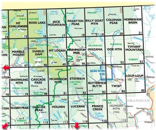 Green Trails Maps Doe Mountain 52