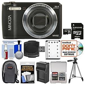 Minolta MN12Z OIS 12x Zoom Wi-Fi Digital Camera with 32GB Card + Case + Battery & Charger + Tripod + Kit