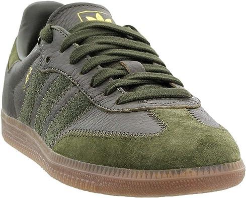 adidas Mens Samba OG FT Casual Sneakers, Green, 5