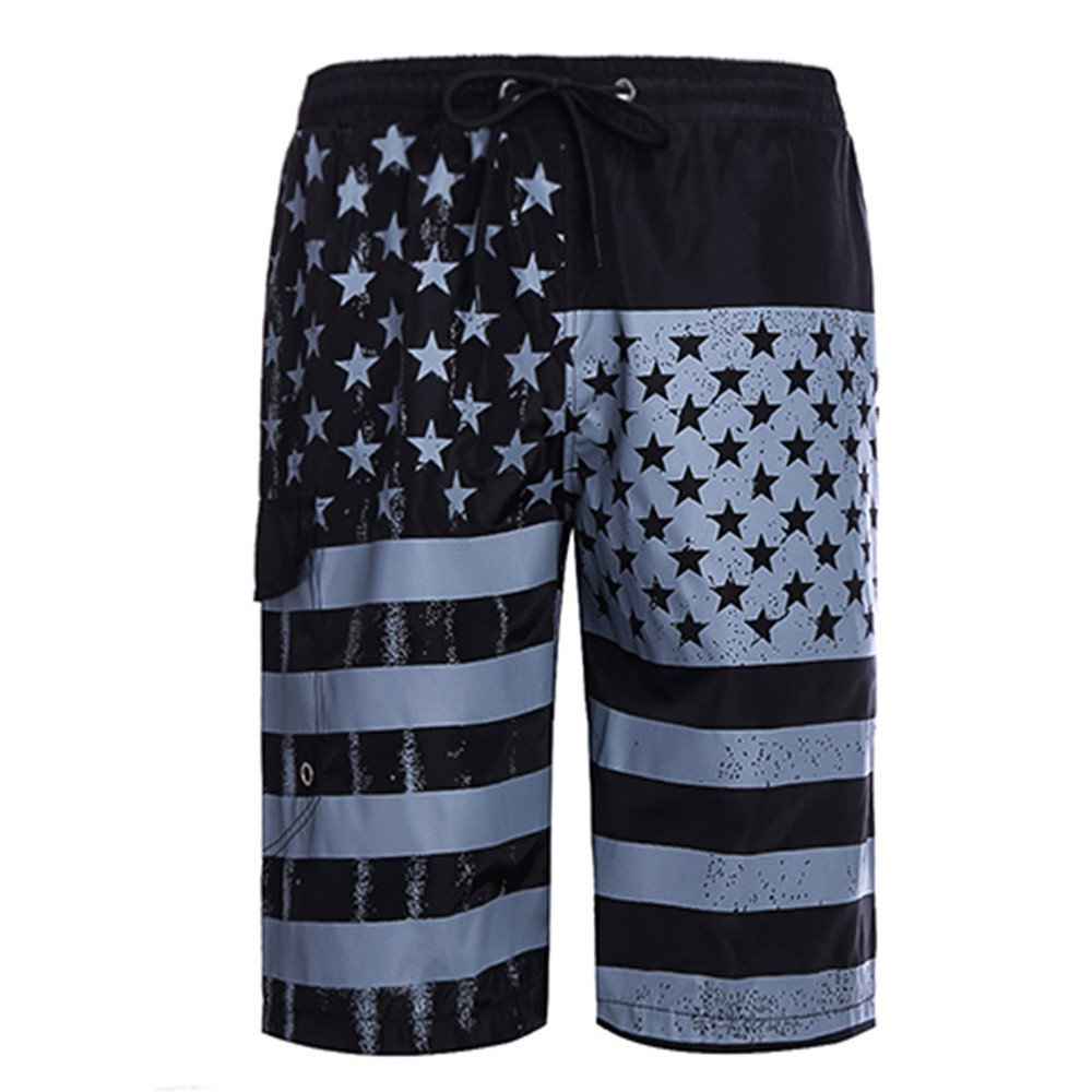 Mens 3D Print Graphic Casual Athletic Beach Swimming Vacation Surfing Shorts