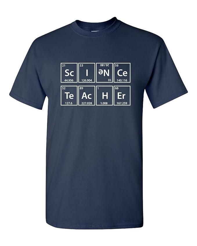 32233fce8 Amazon.com: Science Teacher Elements Periodic Table Professor Funny Men's  Adult T-Shirt: Clothing
