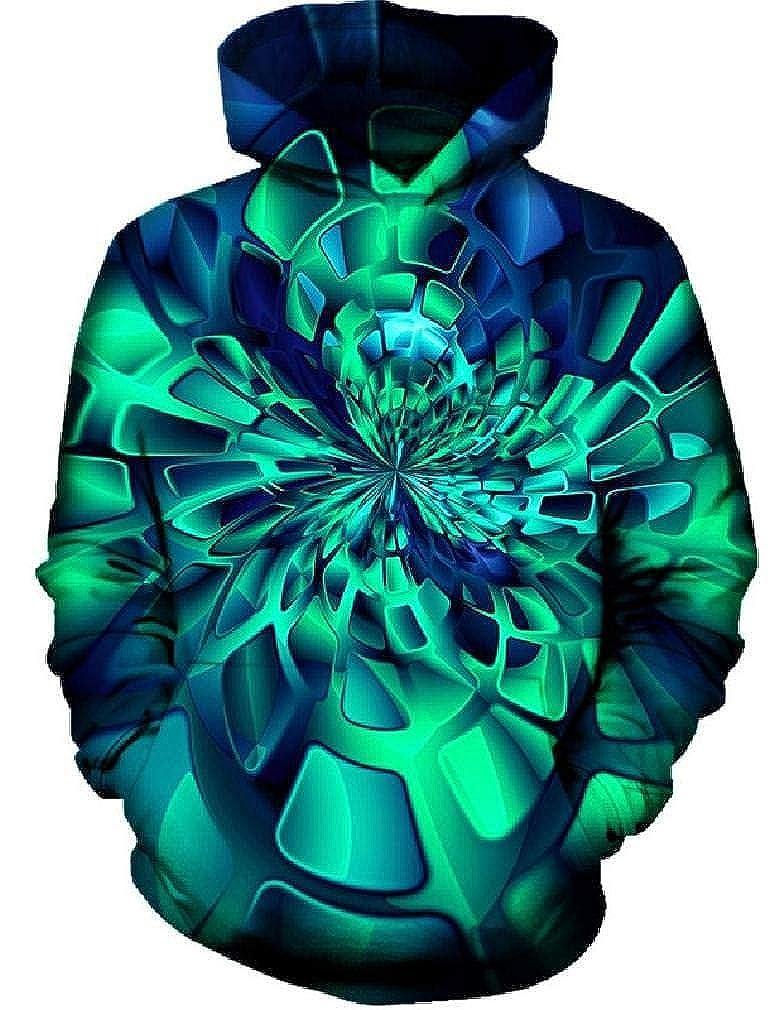 Chiclook Cool Unisex 3D Jacket Hoodie Skeleton Halloween Punk Hooded