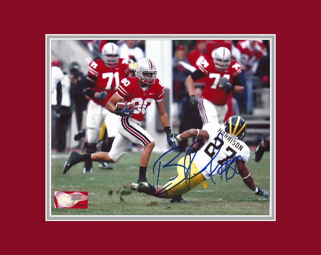 ccd6ed4df34 Brian Robiskie Autographed Ohio State Buckeyes 8x10 Photograph - Certified  Authentic - Includes Mat at Amazon s Sports Collectibles Store