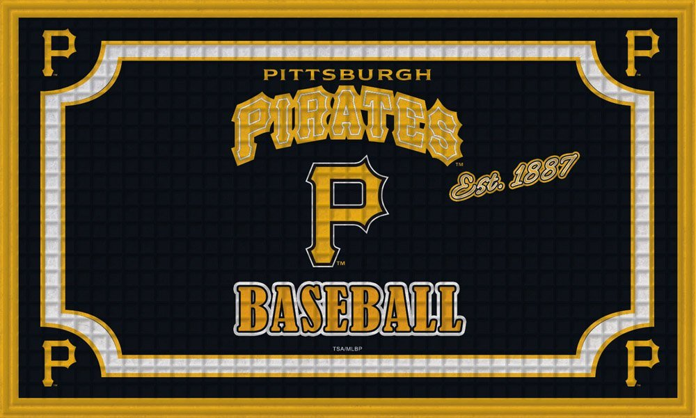 Team Sports America Pittsburgh Pirates Embossed Floor Mat, 18 x 30 inches