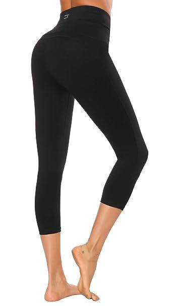 c3b6add4ab3413 X HERR Women Gym Leggings High Waist Yoga Sports Pants Compression Workout  Running Tights (Black2