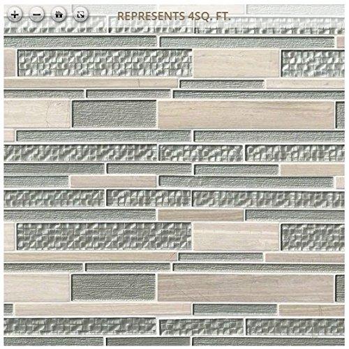Aria Interlocking 12 in. x 18 in. x 8 mm Glass Stone Mesh-Mounted Mosaic Tile