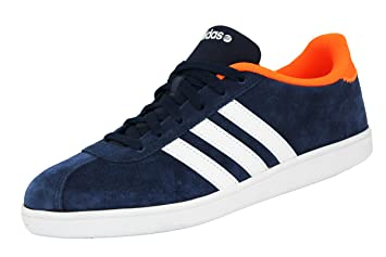 adidas Neo VL COURT Blue Suede Leather Men Sneakers Shoes