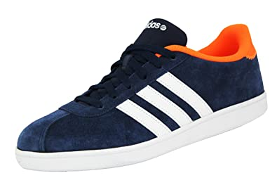 Mode Suede Bleu Vl Chaussures Cuir Adidas Neo Court Homme Sneakers xBrWdCeo
