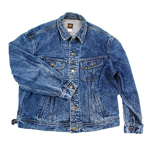 Rider Denim Jacket - Vintage Lee Rider Glacier Washed Denim Jean Jacket Button Up (18)