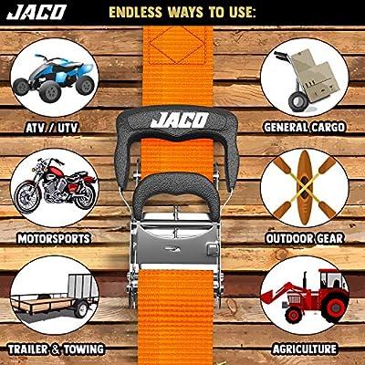 JACO Ratchet Tie Down Straps (Heavy Duty Set) - 1.6