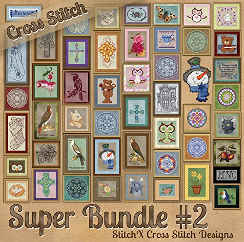 StitchX Cross Stitch Counted Cross Stitch Pattern Bundle 2 -