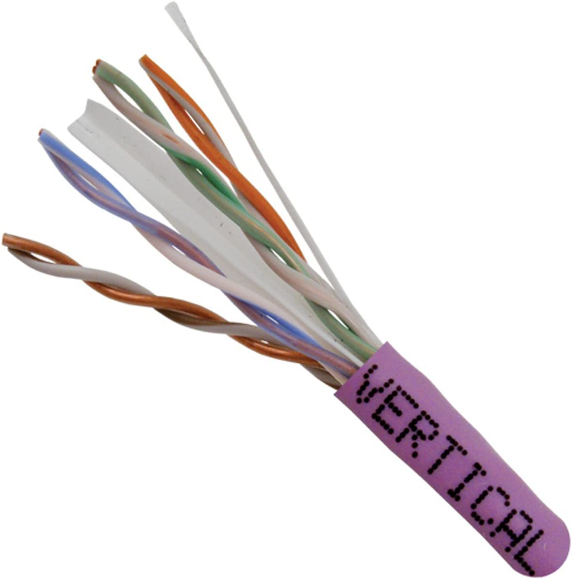 23AWG 1000ft Bulk Ethernet Cable 161 Series Vertical Cable Cat6 Purple 550 MHz Solid Bare Copper UTP