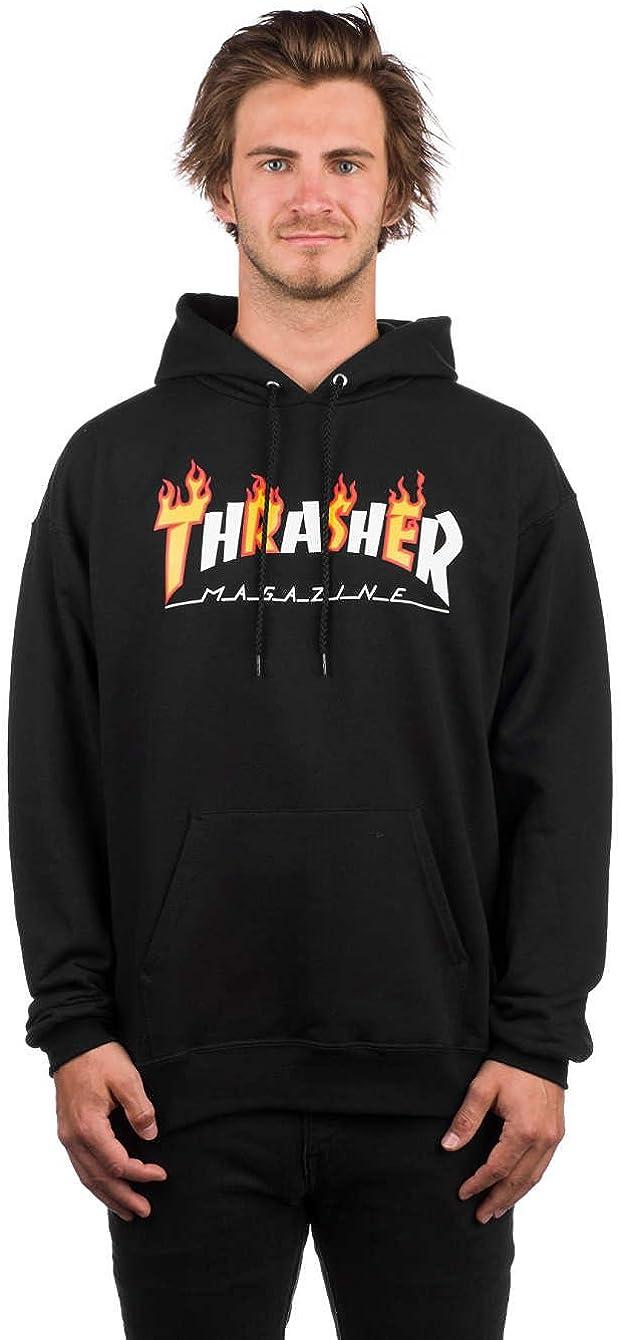 TALLA S. THRASHER Sudadera Flame mag Hood BLK